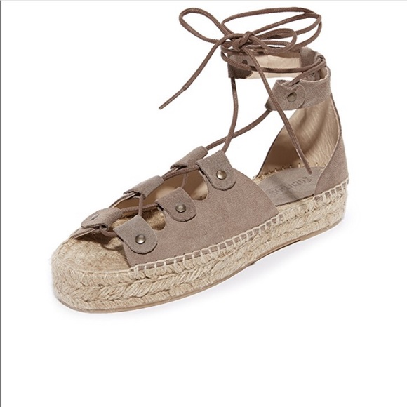 94bf6091358 Soludos Ghillie lace-up espadrille platform sandal.  M 5c43a8b2aa57191adda078aa